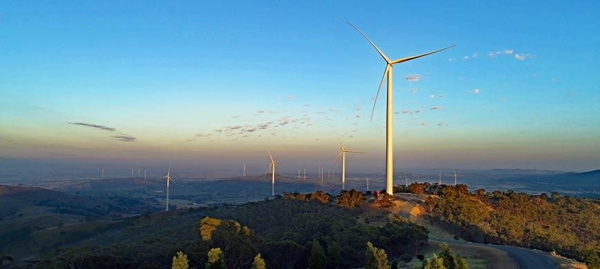 A rural wind farm