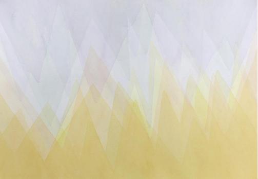 A geometric watercolour artwork