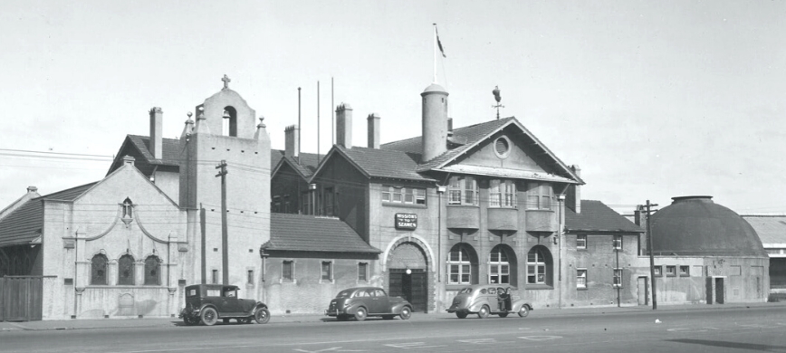 A historic photo of the Mission to Seafarers building