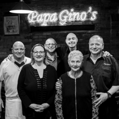 A group of people in an Italian restaurant